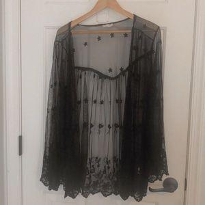 black lace kimono🖤